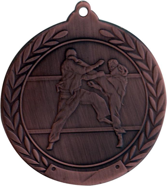 Medalla Monforte metálica de 50mm Ø