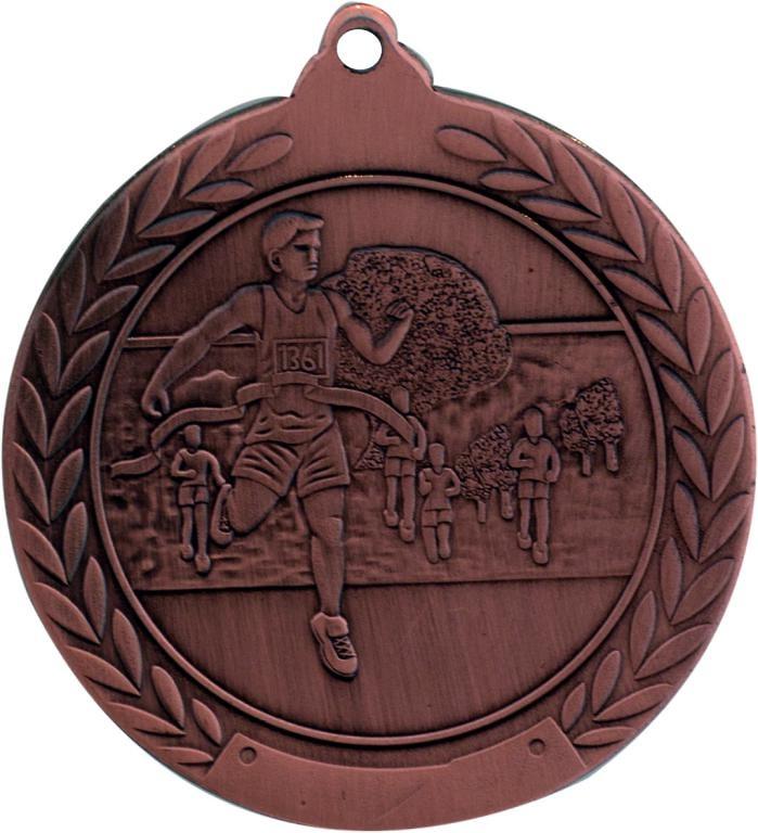 Medalla de 50 mm Ø acabado en oro de atletismo.