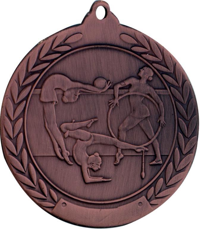 Medalla de 50mm Ø para gimnasia