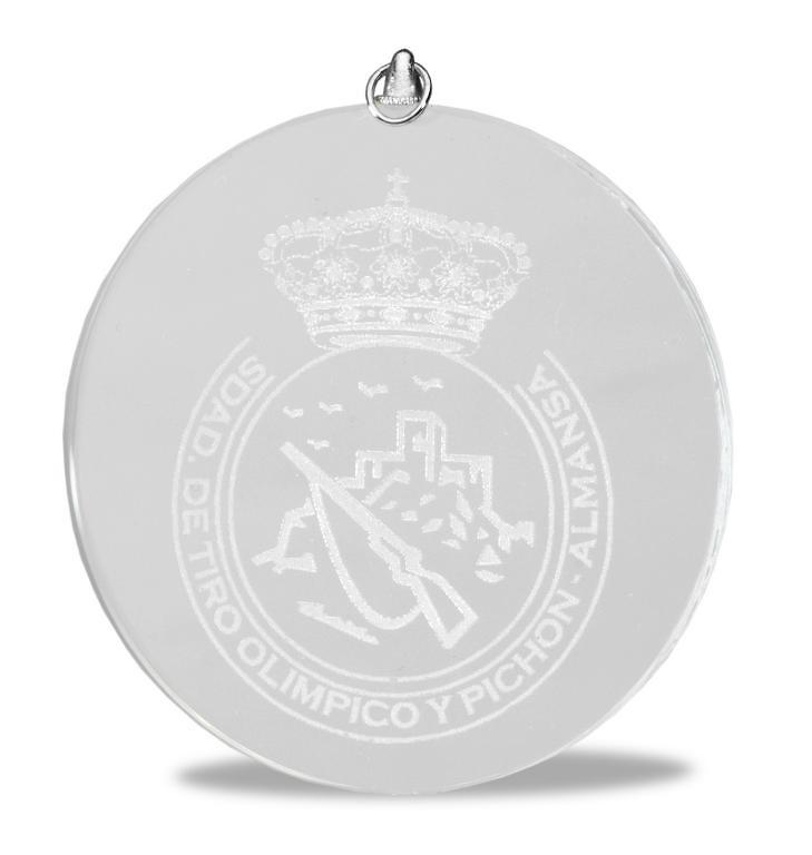Medalla de cristal redonda para grabacion laser o todo color