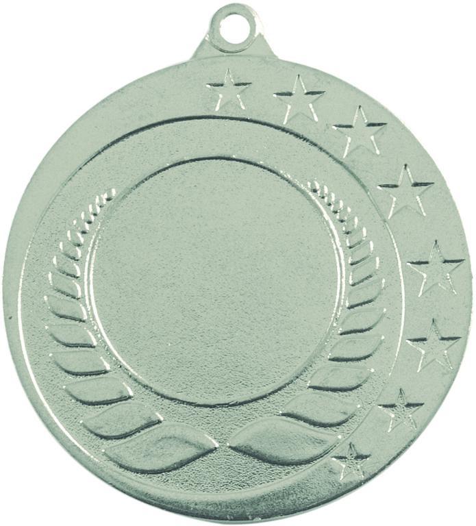 Medalla deportiva de 50 mm Ø con borde tallado.