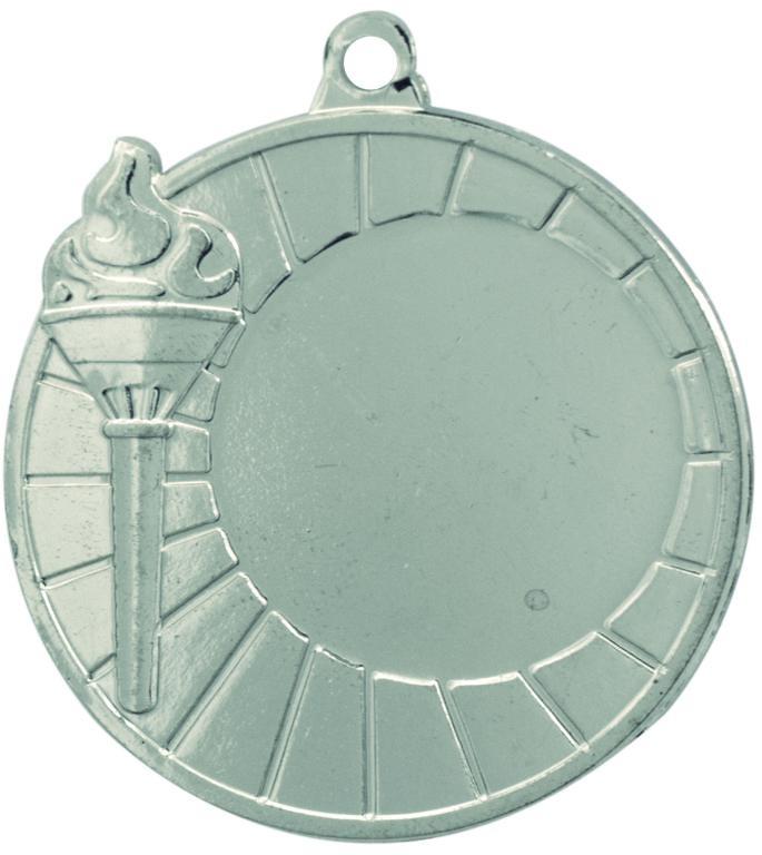 Medalla deportiva modelo antorcha olimpica