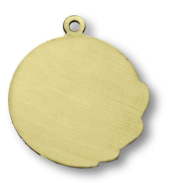 Medalla metalica espiral con disco