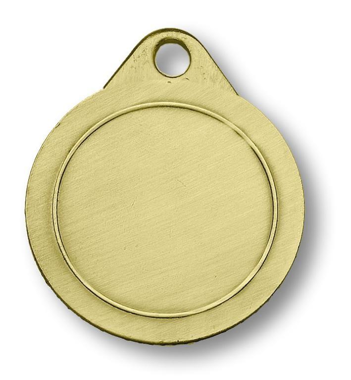 Medalla metalica para futbol en dorado
