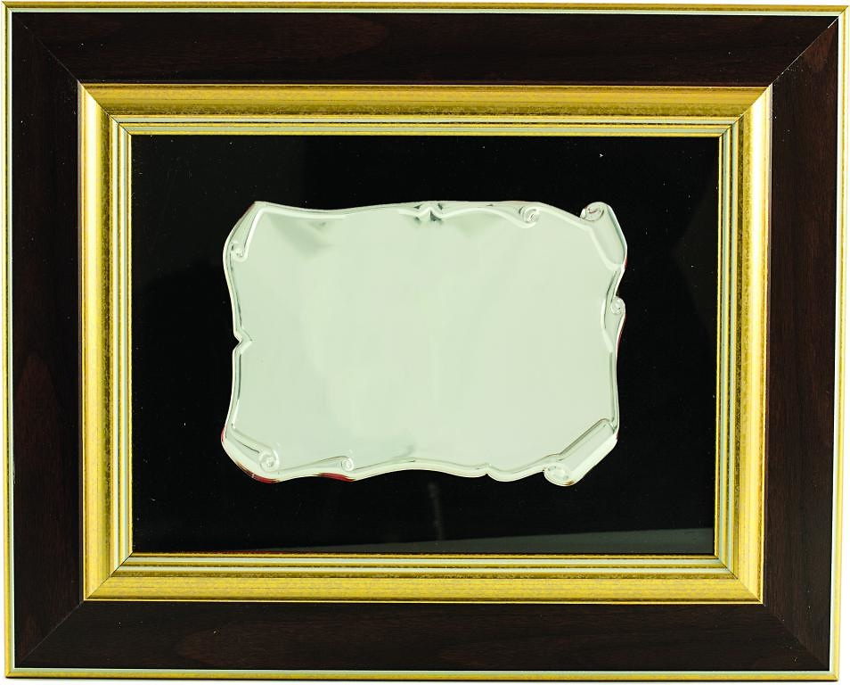 Placa Conmemorativa Tabazoa de Edroso Plateada