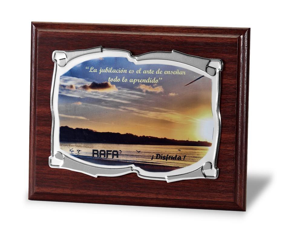 Placa Conmemorativa en aluminio pergamino suave a todo color