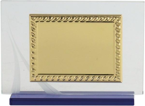 Placa de Homenaje Mini en dorado