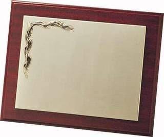 Placa conmemorativa alpaca hojas