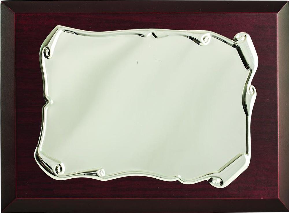 Placa de homenaje pergamino brillo estampada