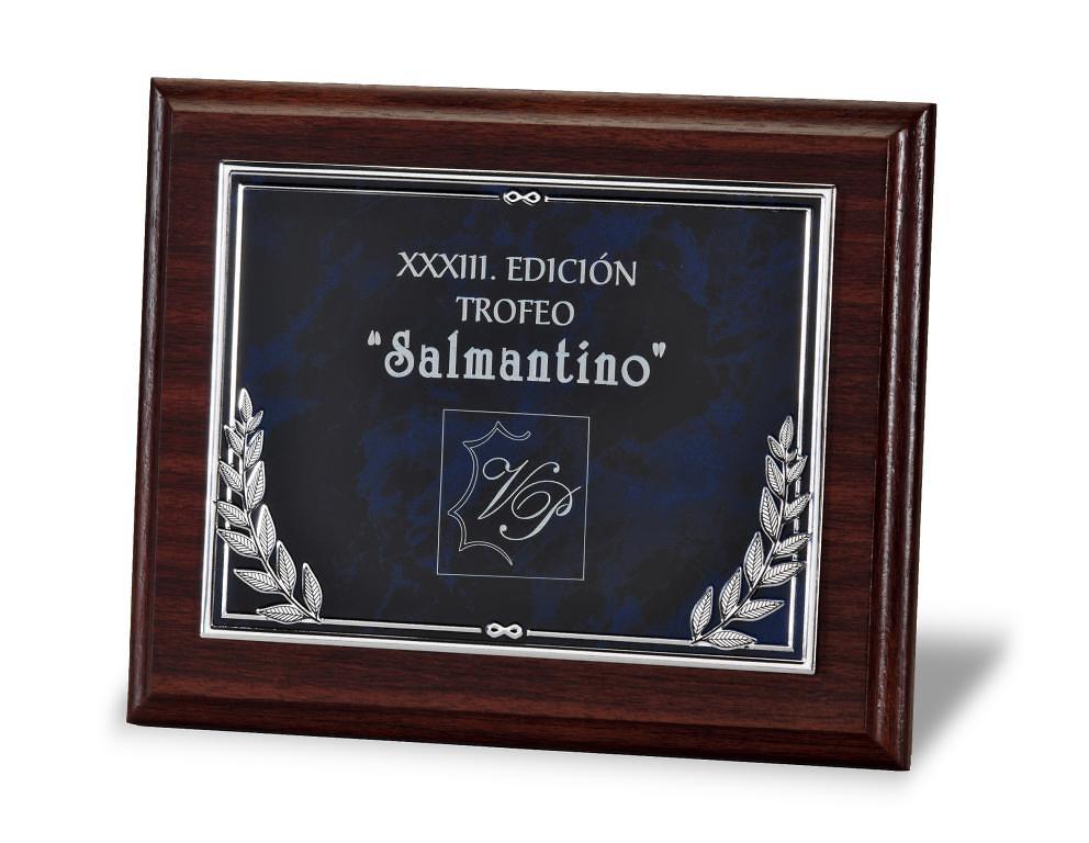 Comprar placa de homenaje en aluminio con ramilletes - Placa de aluminio ...