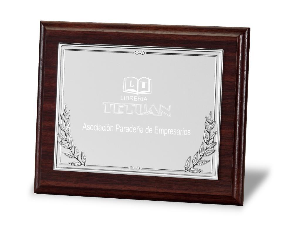 Placa de homenaje en aluminio con ramilletes Loperas