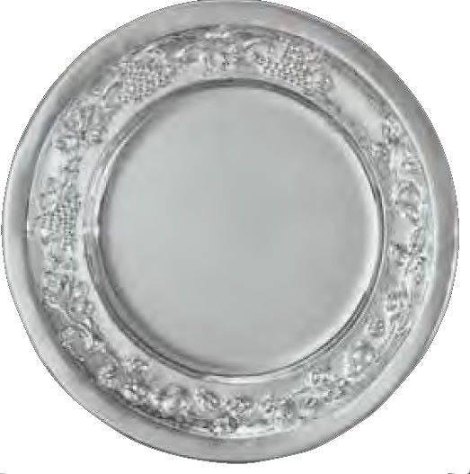 Plato Decorativo Crasipes Plata