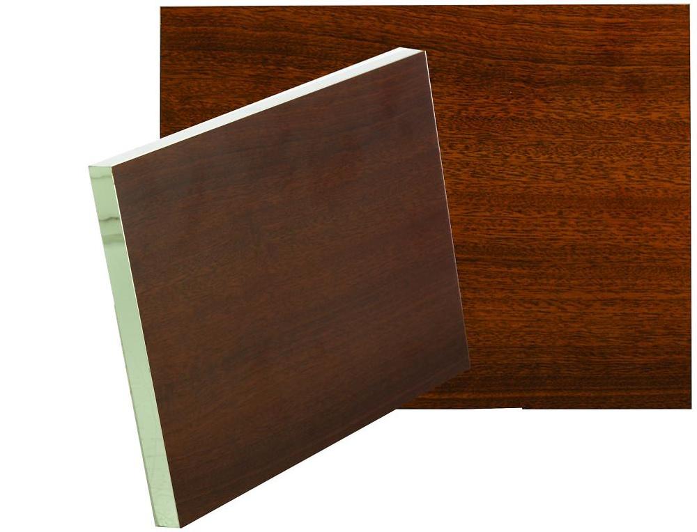 Soporte de madera con borde de aluminio