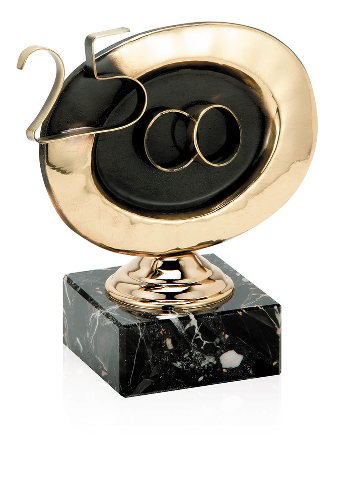 Trofeo 25 aniversario de latón