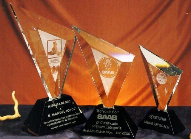 Trofeo Antamba Triangulo Cristal
