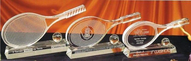 Trofeo Antemor Raqueta Cristal