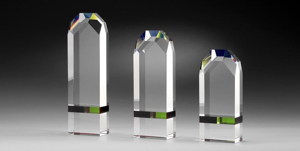 Trofeo Arizpe cristal verde golf