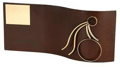 Trofeo Aro rectangular ondulado
