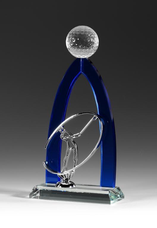 Trofeo Azcapot golf cristal recortado