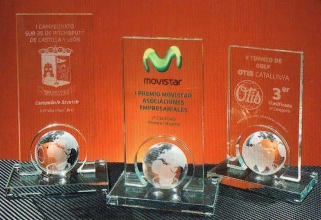 Trofeo Bachinga Globo Terráqueo Inferior