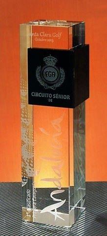Trofeo Bai Torre Transparente Cristal