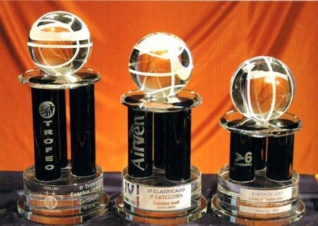 Trofeo Balenge Columnas Baloncesto Negras