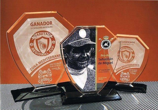 Trofeo Bamoun Escudo Cristal