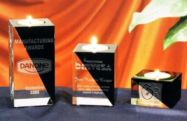 Trofeo Bashada Portavelas Cristal