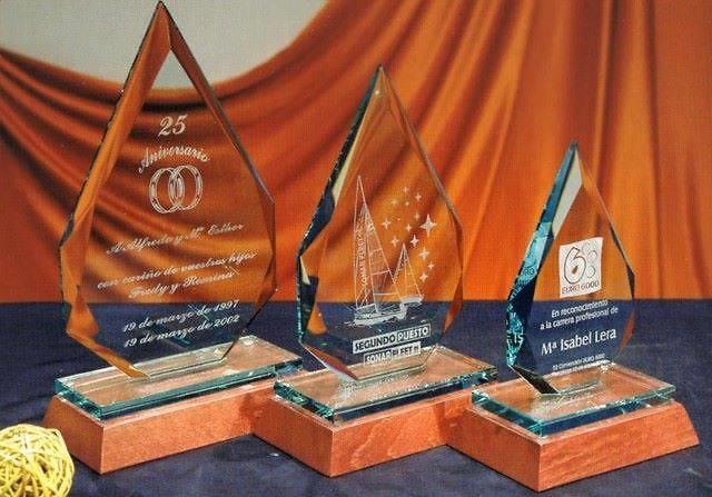 Trofeo Bereber Cristal Gota