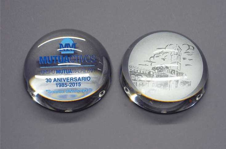 Trofeo Bijago Cristal Pisapapeles