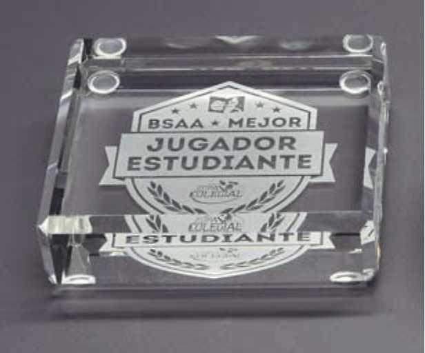 Trofeo Bilen Pisapapeles Cuadrado