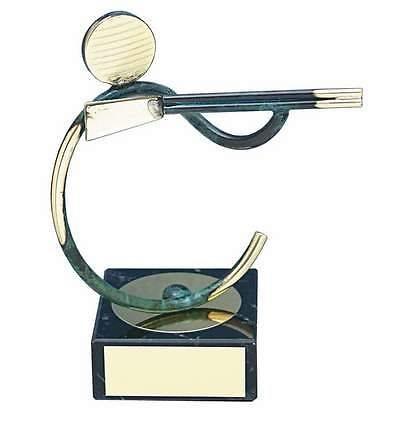 Trofeo Caza escopeta peana mármol