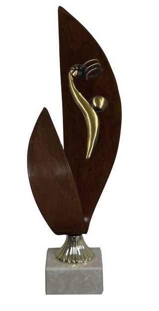 Trofeo Artesanal Laton Baloncesto