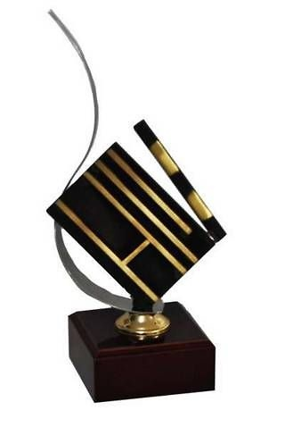 Trofeo Artesanal Laton Cine. Claqueta de cine.