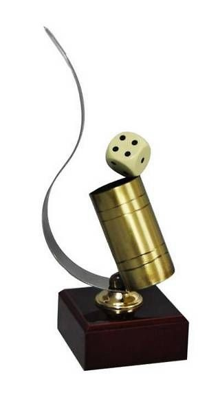 Trofeo Artesanal Laton Parchis