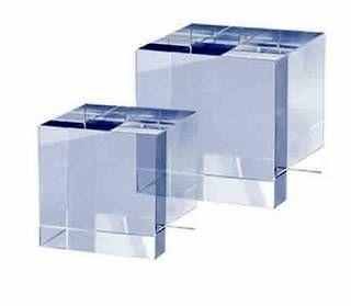 Trofeo Cubo Transparente Ter de Cristal