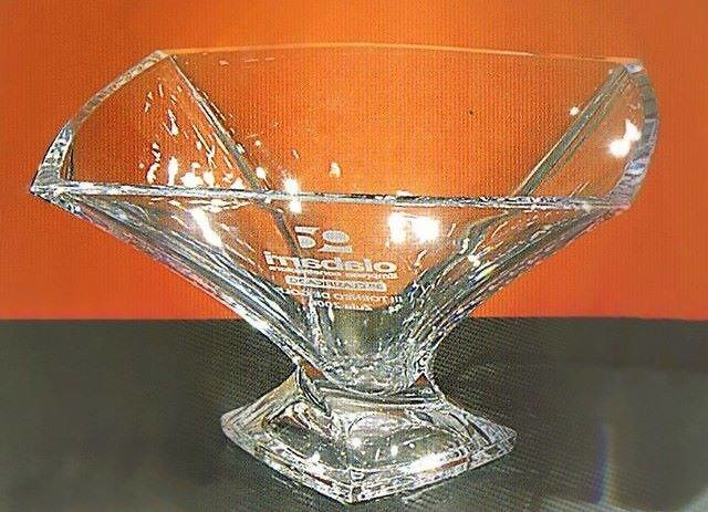 Trofeo Dendi Ensaladera Cuadrado Cristal