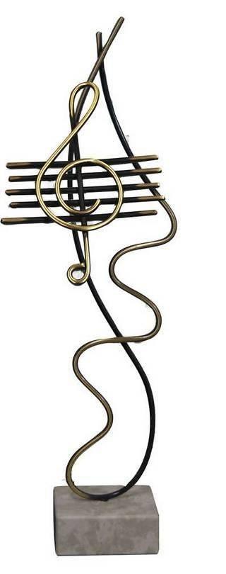 Trofeo Artesanal Laton Musica. Tamaños pequeños.