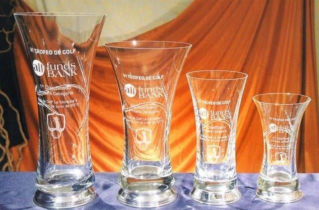 Trofeo Digil Florero Plata Cristal Liso