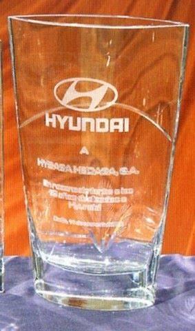 Trofeo Diola Forma Vaso Cristal