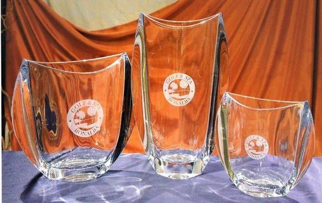 Trofeo Dschang Liso Cristal Oval