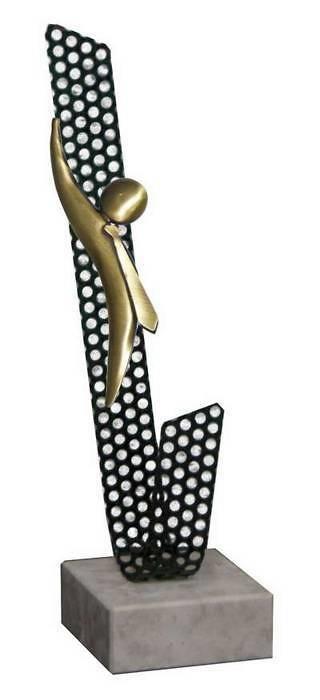 Trofeo Artesanal Laton Negocios