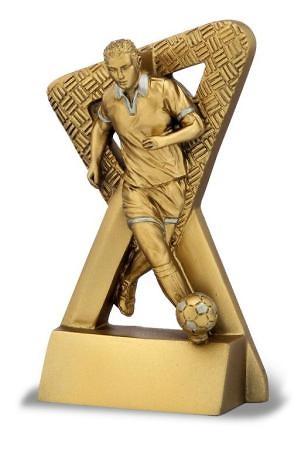 Trofeo Futbol modelo oro