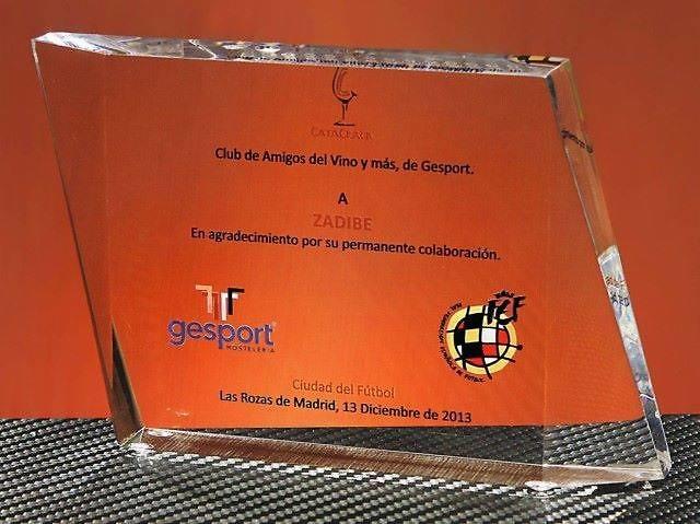 Trofeo Gavar Rectangular Transparente