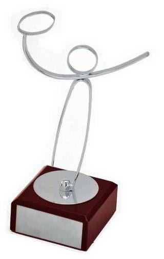 Trofeo Artesanal Laton Futbol Americano con peana de marmol