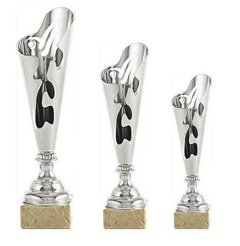 Trofeo Lepe en acrílico plateado y dorado