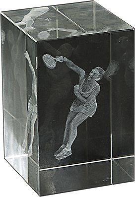 Trofeo Lozoya cubo cristal 3D padel femenino
