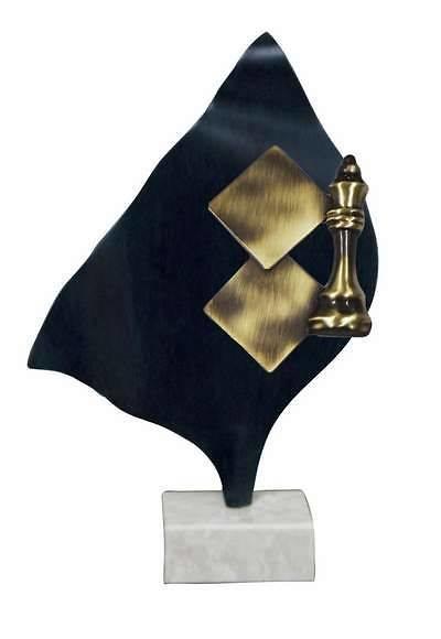 Trofeo Artesanal Laton Ajedrez