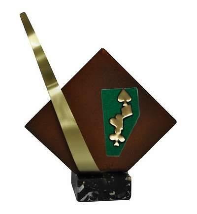 Trofeo Artesanal Laton Cartas
