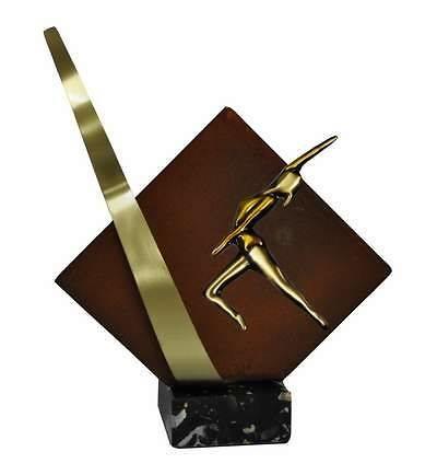 Trofeo Artesanal Laton Gimnasia Ritmica